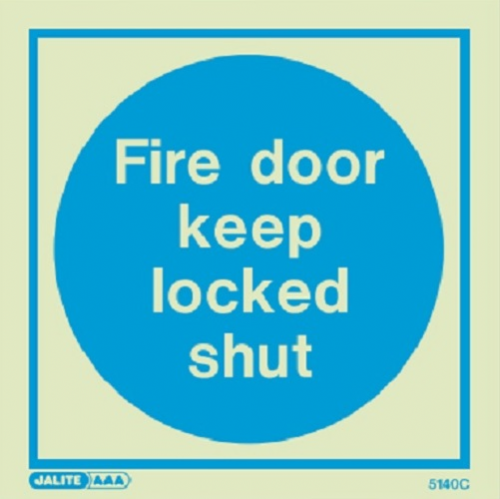 (5140) Jalite Fire door keep locked shut sign